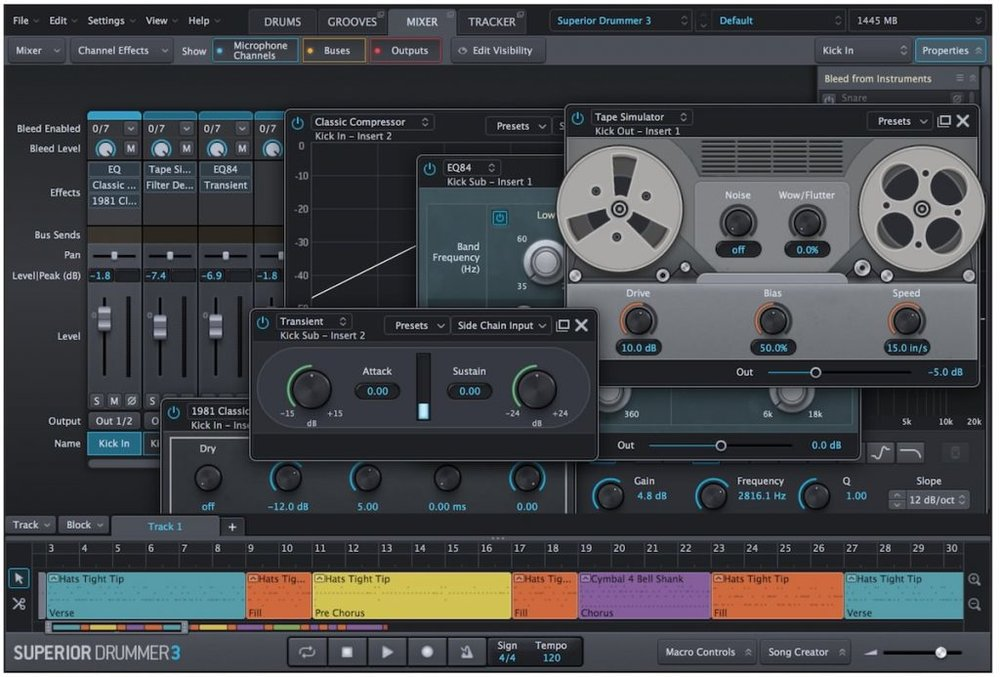 a screenshot of the new interface of toontrack superior drummer 3