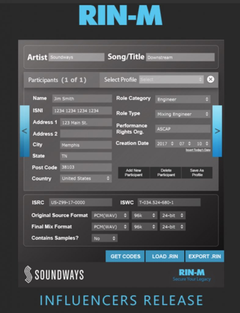 a screenshot of the rin-m plugin by Soundaways