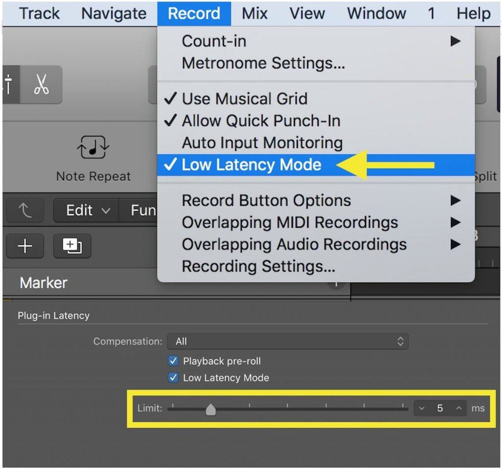low latency mode in Logic Pro X