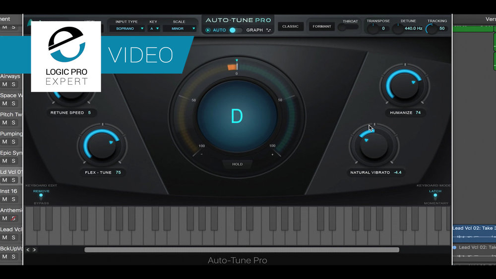 a screenshot of the antares auto tune pro plugin in logic pro x