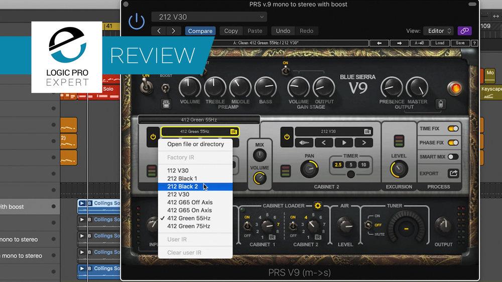 a screenshot of the Waves PRS SuperModels Guitar Amp plugin in Logic Pro X