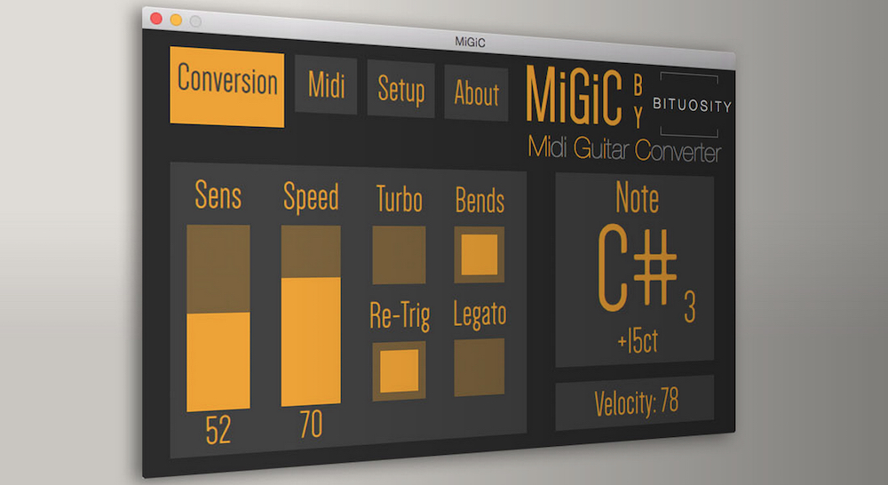convert guitar to midi with migic