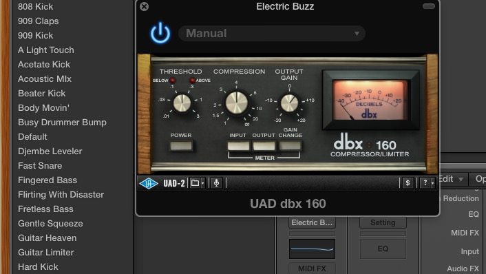 Browse All Universal Audio Plugin Presets in Logic Pro X's Library