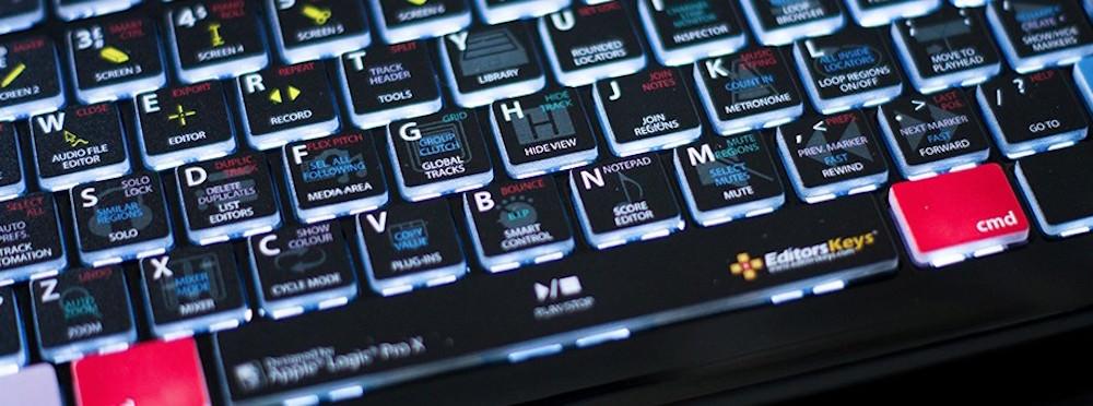 logic pro x keyboard