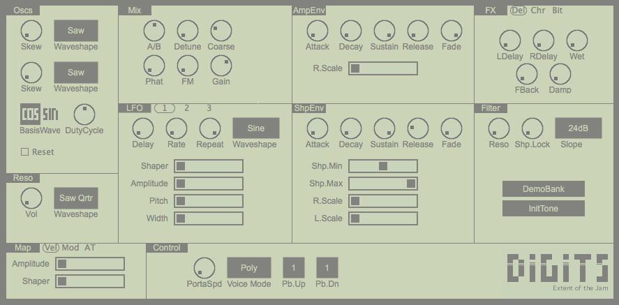 a screenshot of the user interface og digits 2.0