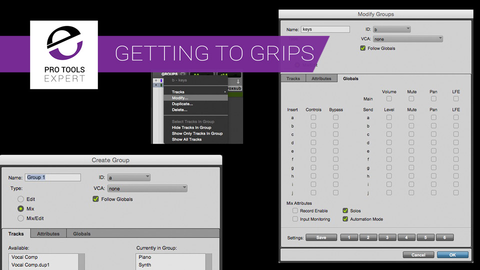 Getting to Grips With Pro Tools Part 13 - Mix Groups