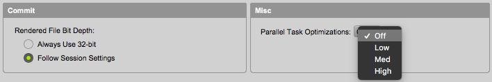 Pro Tools Ultimate Parallel Tasks Optimization setting