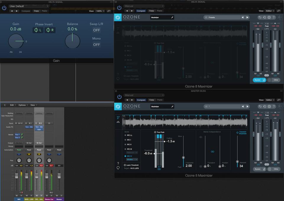 Using iZotope 8 in Logic Pro.