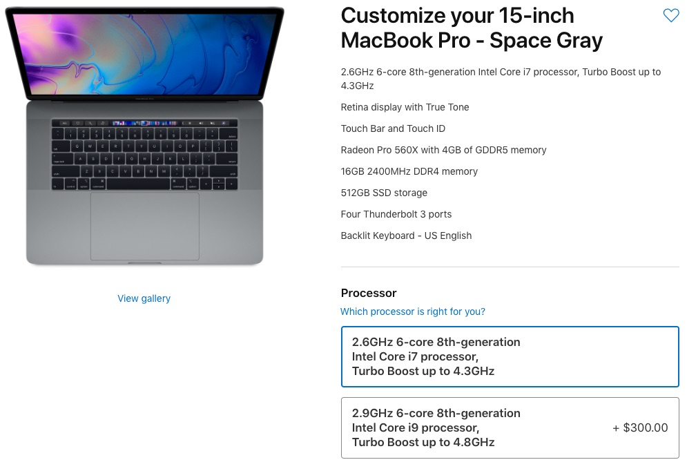 "15"" MacBook Pro Processor Options"