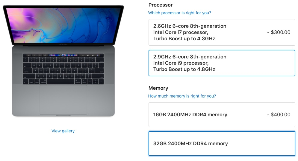 "15"" MacBook Pro RAM Options"