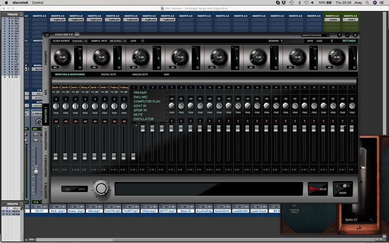 Antelope Audio Discrete 8 Control Panel