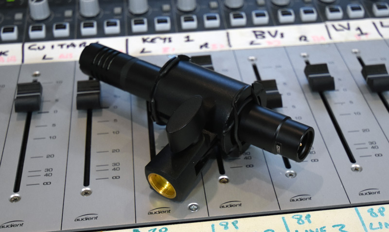 Antelope Audio Verge Mic In Shock Mount On Mixing Console