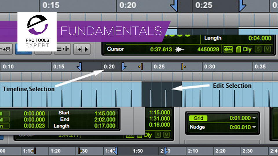 Pro Tools Fundamentals - Timeline And Edit Selections And Insertion Follows Playback
