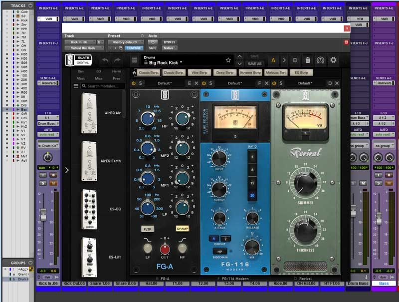 This is the VMR Configuration For The Kick Drum Inside Channel Featuring the new FG-A EQ