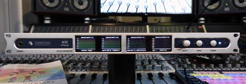 Ferrofish A32 Dante AD / DA Converter Front.