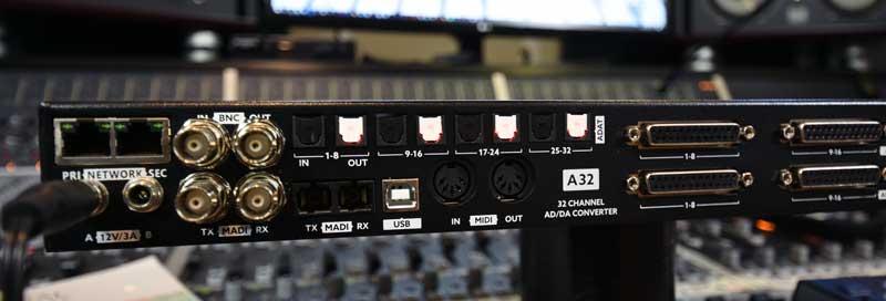 Ferrofish A32 Dante AD / DA Converter Digital Connectivity