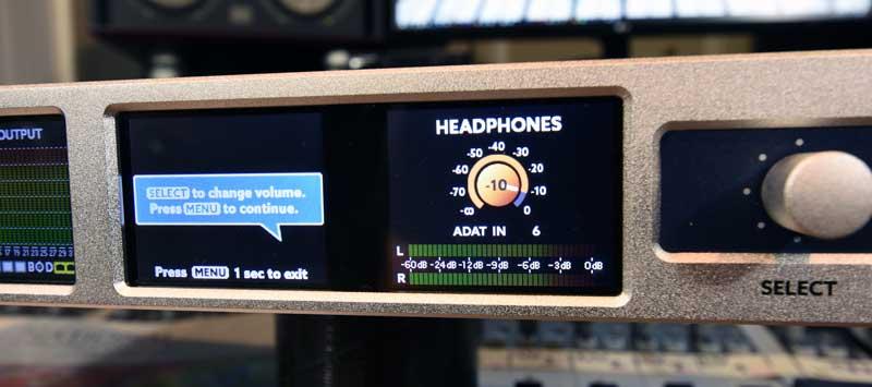 Ferrofish A32 Dante AD / DA Converter Headphone Control Screen