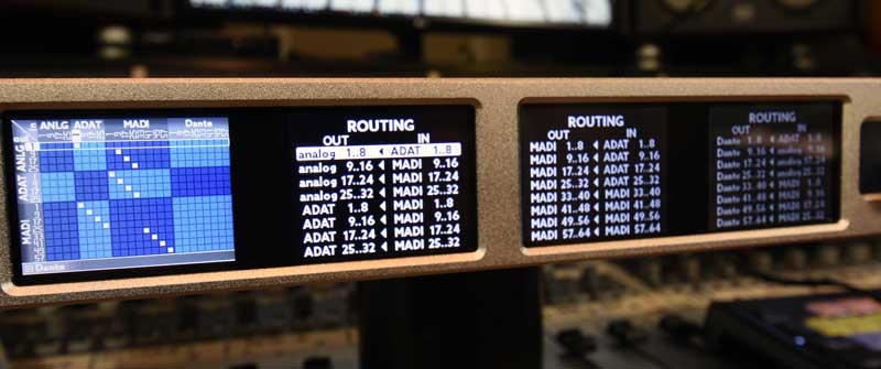 Ferrofish A32 Dante AD / DA Converter 32 x 32 Routing Screens