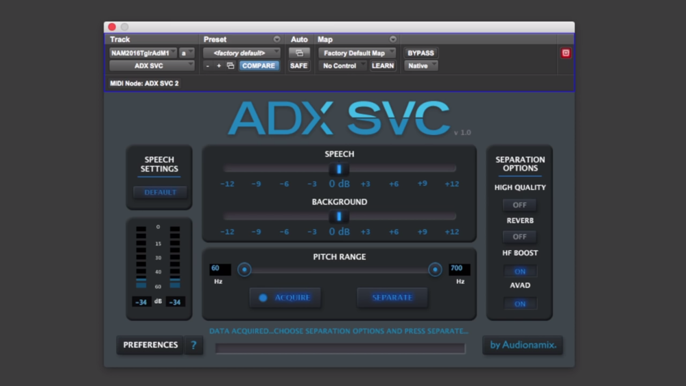audionamix ADX SVC IDC Instant Dialogue Cleaner