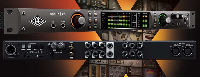 New Universal Audio Apollo x6 Interface