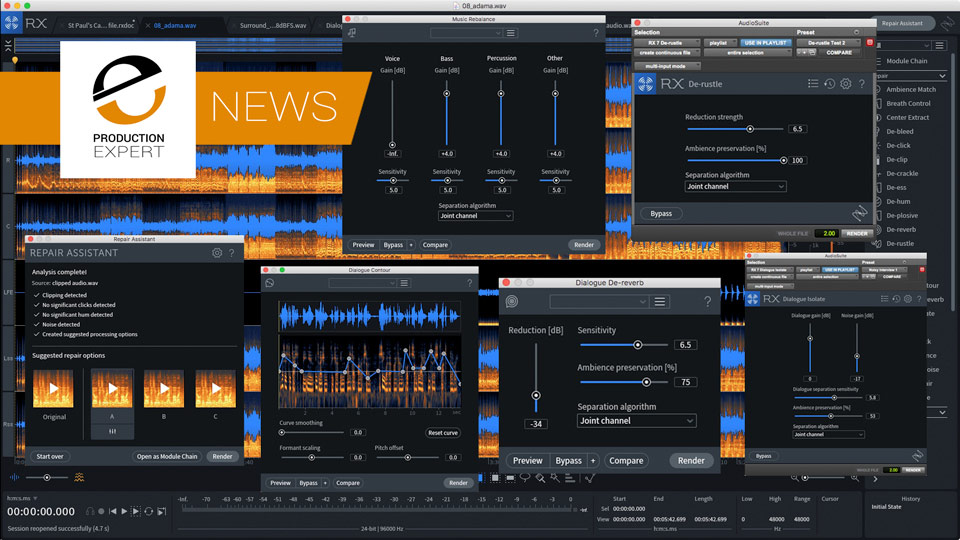 iZotope RX 7 Is Released Today - We Have Exclusive Demos And