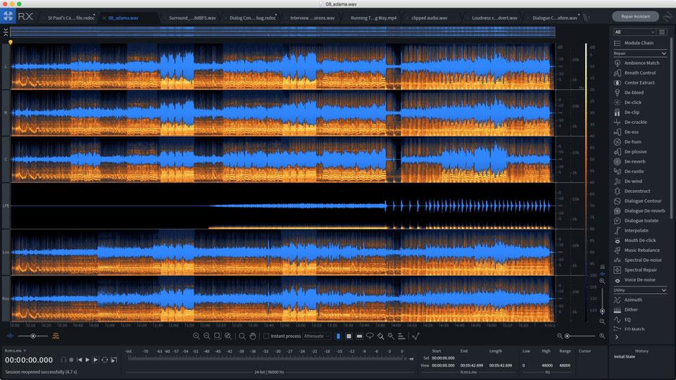 Multi-channel support in iZotope RX 7 Advanced