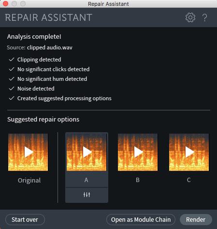iZotope RX 7 Repair Assistant