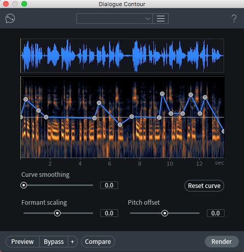 iZotope Dialogue Contour Module