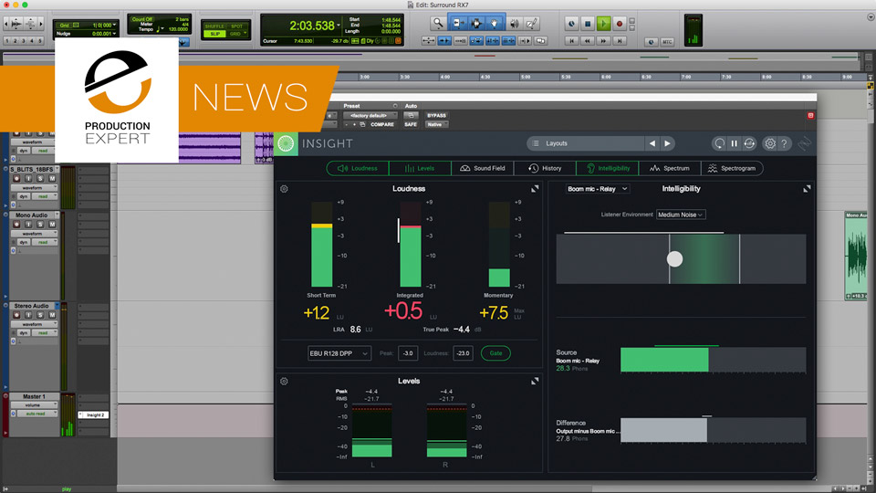 iZotope Release Insight 2 Audio Metering Plug-in And New Post Production Suite 3 Today With Insight 2 And RX 7