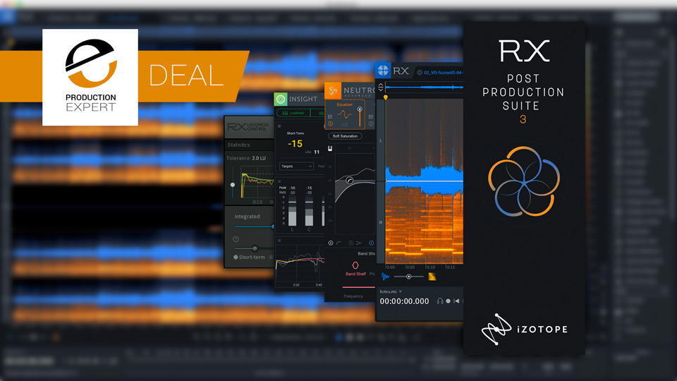iZotope Offer Introductory Prices on RX 7, RX 7 Advanced, Insight 2 And Post Production Suite 3 Until October 31st 2018
