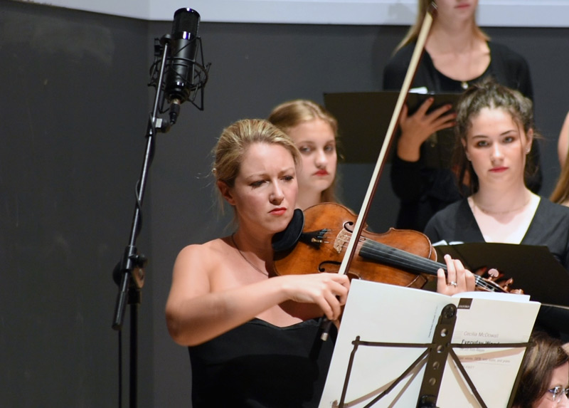 Using a Slate Digital ML-1 for the Violin solo mic.