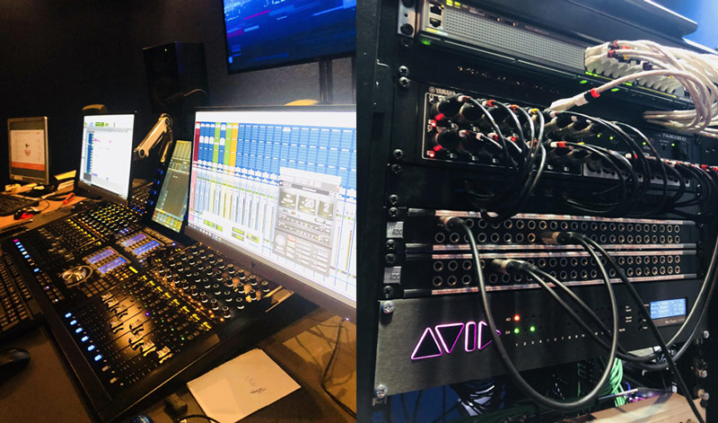 An Avid S6 and Pro Tools MTRX at OSN in Dubai.