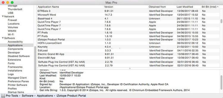32 Bit Applications Running in macOS Sierra
