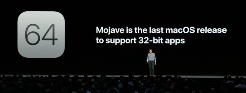 32 bit app status from Apple