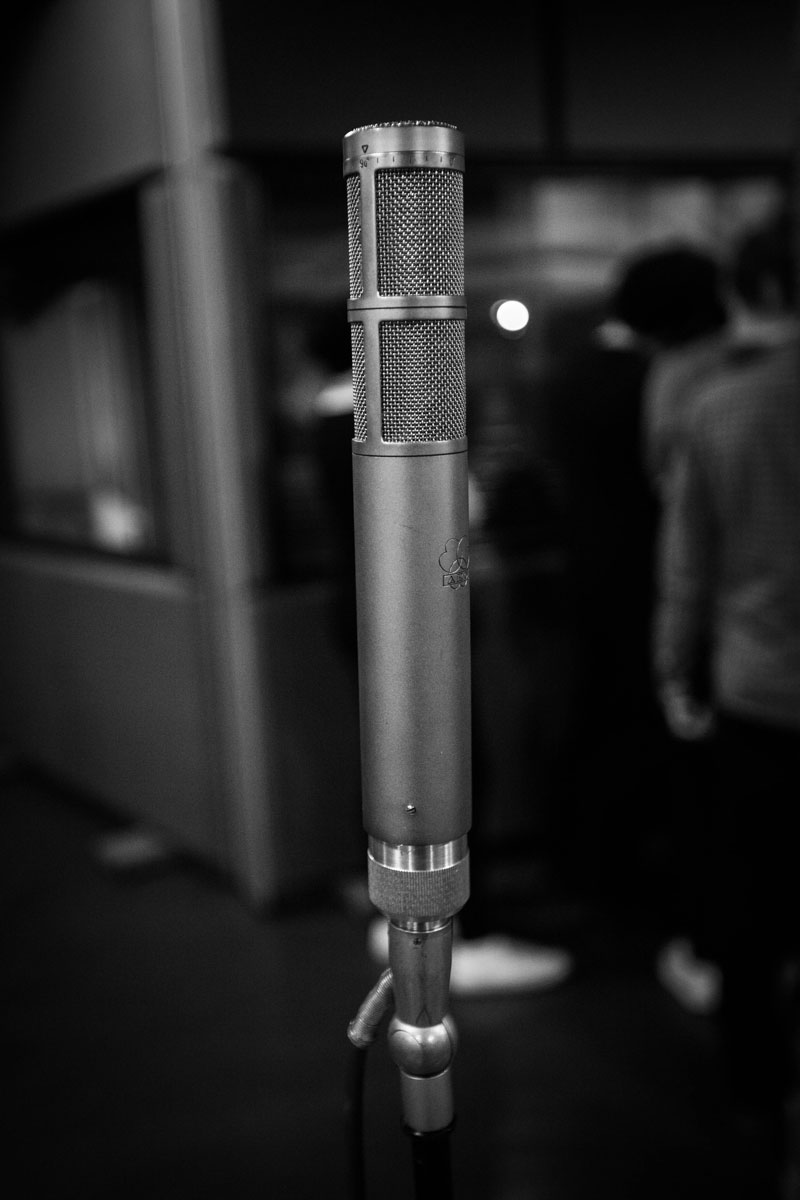 AKG C24 Stereo Mic used to capture the room tone from the drums.