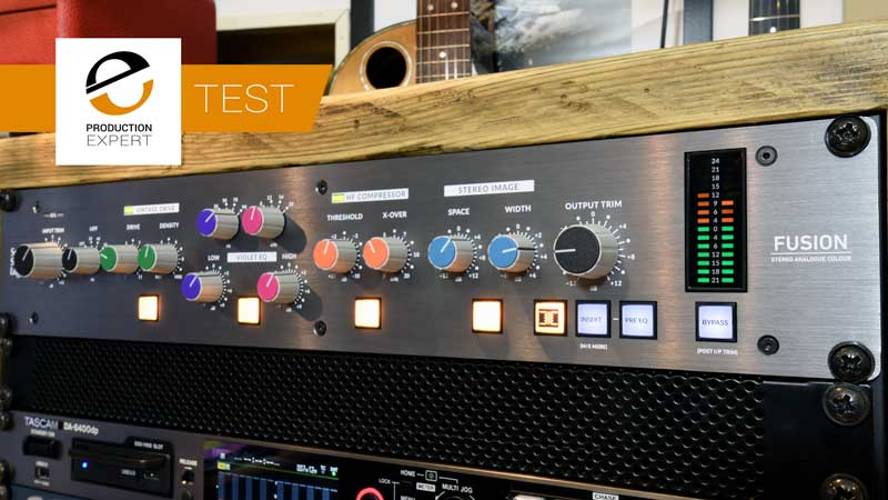 The new Solid State Logic (SSL) Fusion is 5 stereo bus processors in a single 2U rack.