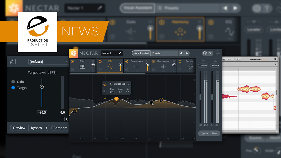 iZotope Announce Nectar3, A New Vocal Chain Bundle And An Update To Their Music Production Bundle