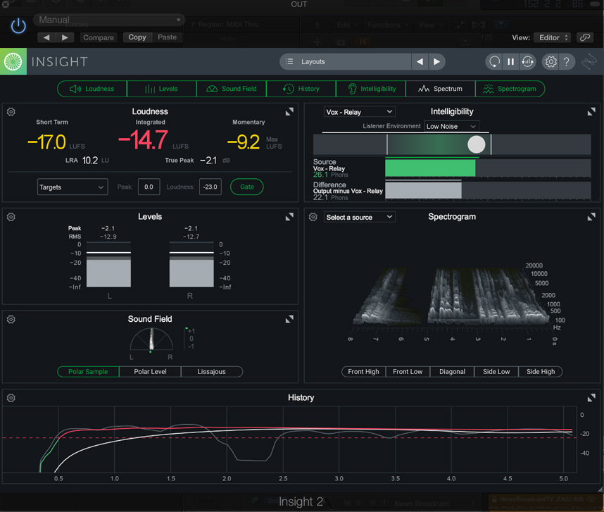 iZotope Insight 2 Intelligibility Meter