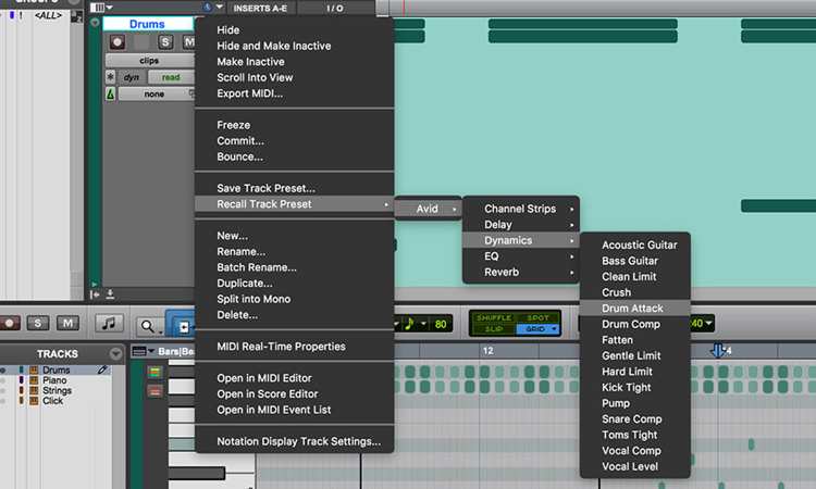 Build Sessions On the Fly with Track Presets