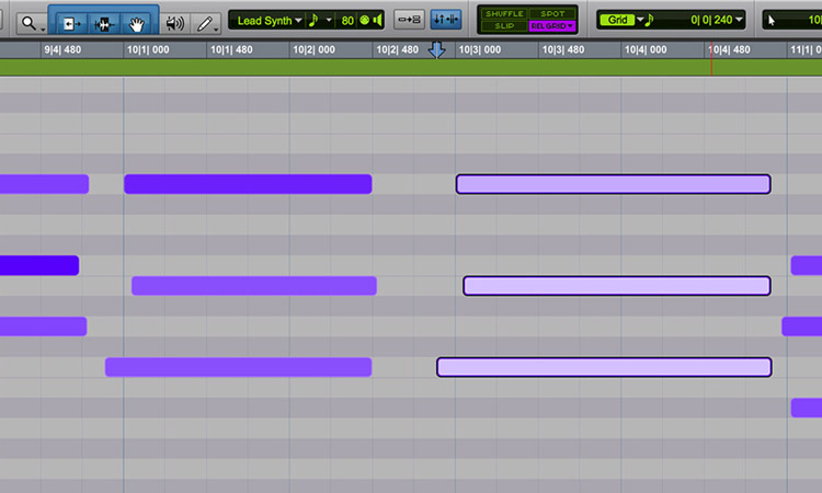 Cut, copy, and paste audio in the groove with Relative Grid