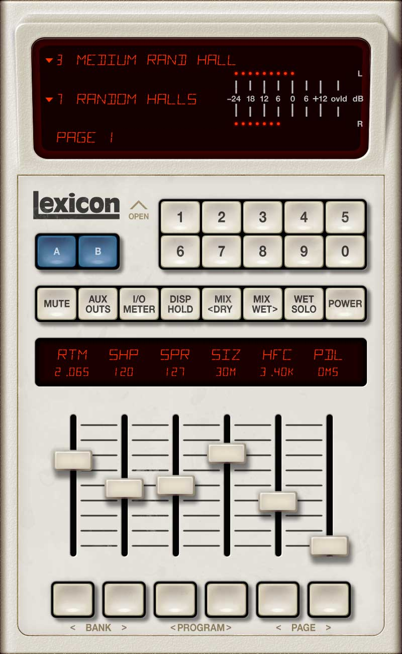 Universal Audio Lexicon 480L GUI