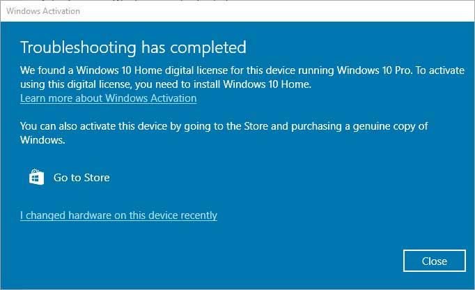 Windows 10 deactivation issue