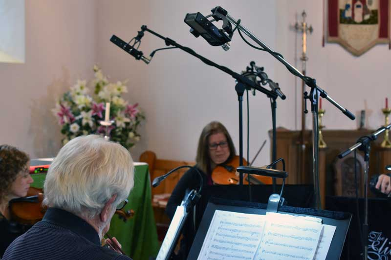 Sontronics Sigma II used to record Violin I and II