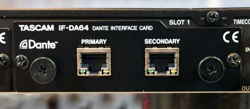 DANTE connections to the rear of the DA-6400