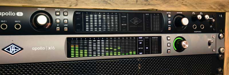 Universal Audio Apollo X16 is being used as the main Pro Tools interface for this project