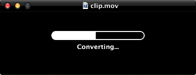 QuickTime Player converting a file