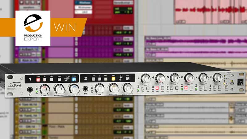 Win An Win An Audient ASP800 8 Channel Mic Pre And A/D Converter Worth $739