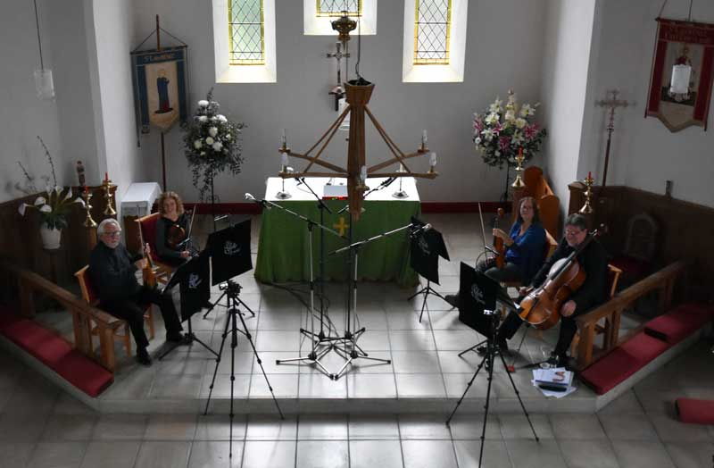 The third pass was recorded with the ensemble seated thus.