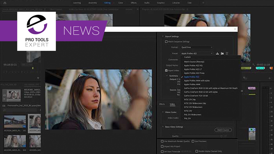 Adobe Announce Official Support For Apple ProRes Video