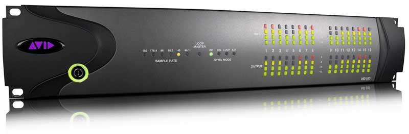 Avid HD I/O being used as the i/o for Mixer X